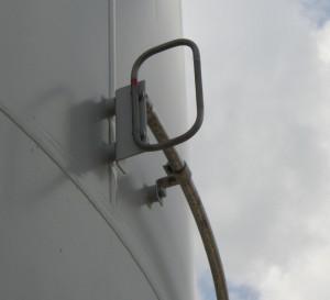 Angled antenna